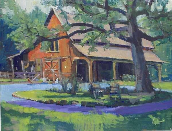 Fair Oaks Barn, 12x16, Ed Cahill painting