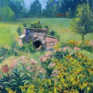 Mabry Park Summer, 11x14, Ed Cahill painting