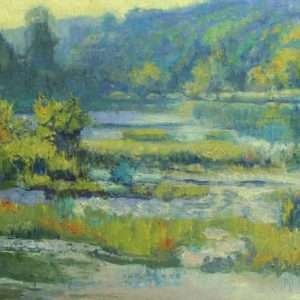 Morning At Riverview, 12x16, Ed Cahill painting