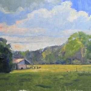 Summer at Mabry, 12x16, Ed Cahill painting