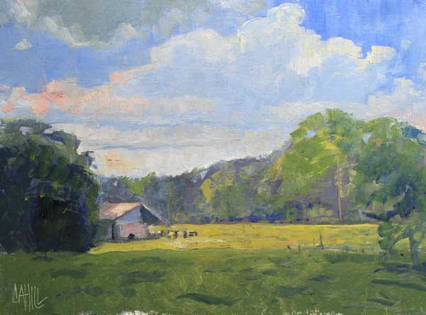 Summer at Mabry, 12x16, Ed Cahill painting