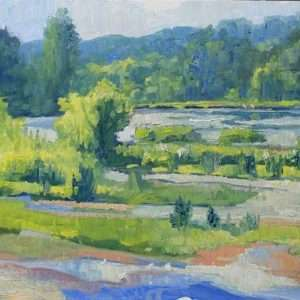 View North Summer, 9x12, Ed Cahill painting