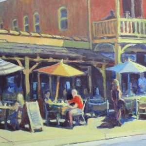 Waiting for a Table, 12x16, Ed Cahill painting