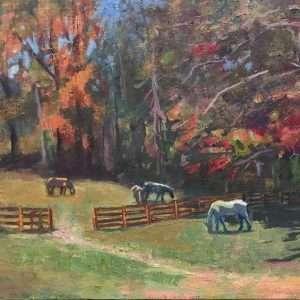 Mabry Mornings, Ed Cahill plein air painting