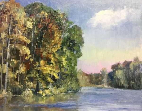 Autumn in Mountain Park, 16x20, Ed Cahill Plein Air