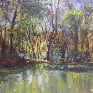 Wild Fall Light, 16x20, Ed Cahill Fine Art, Oil Painting Plein Air