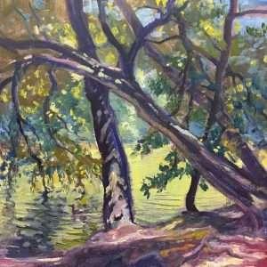 Ford Island Shadows, 12x12, Ed Cahill