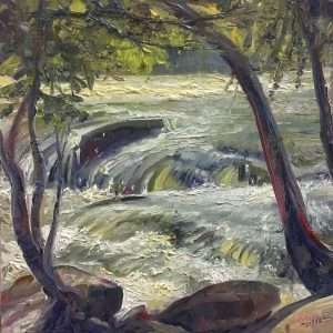 Ford-Island-Flow, Ed Cahill, painting