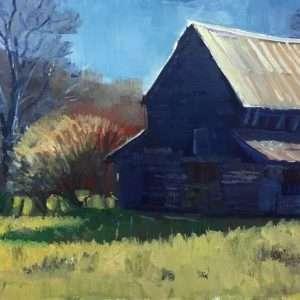Sautee Straw Barn, Ed Cahill painting