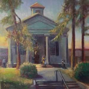 The Sanctuary, 12x12, Ed Cahill Painting