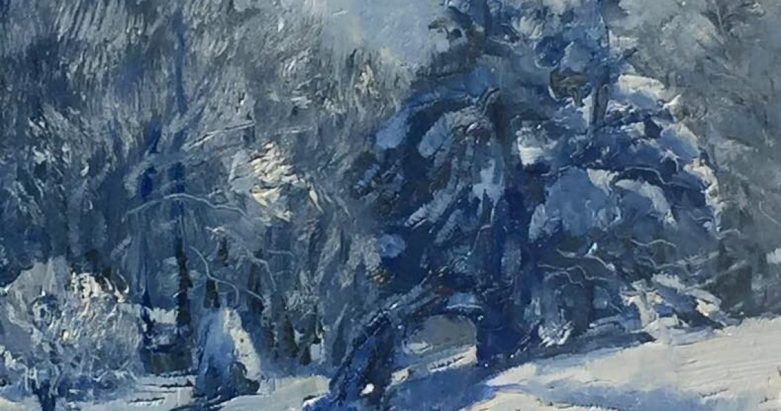 Glorious Snow , Ed Cahill Plein Air Painting